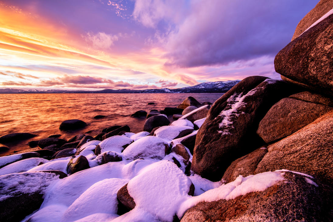 Tahoe Winter Shoreline by sellsworth