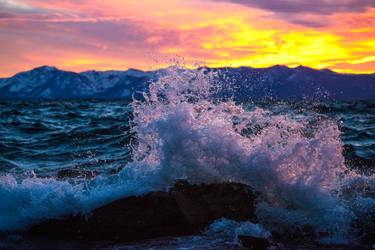 A Stormy and Spectacular Tahoe Sunset