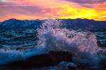A Stormy and Spectacular Tahoe Sunset by sellsworth