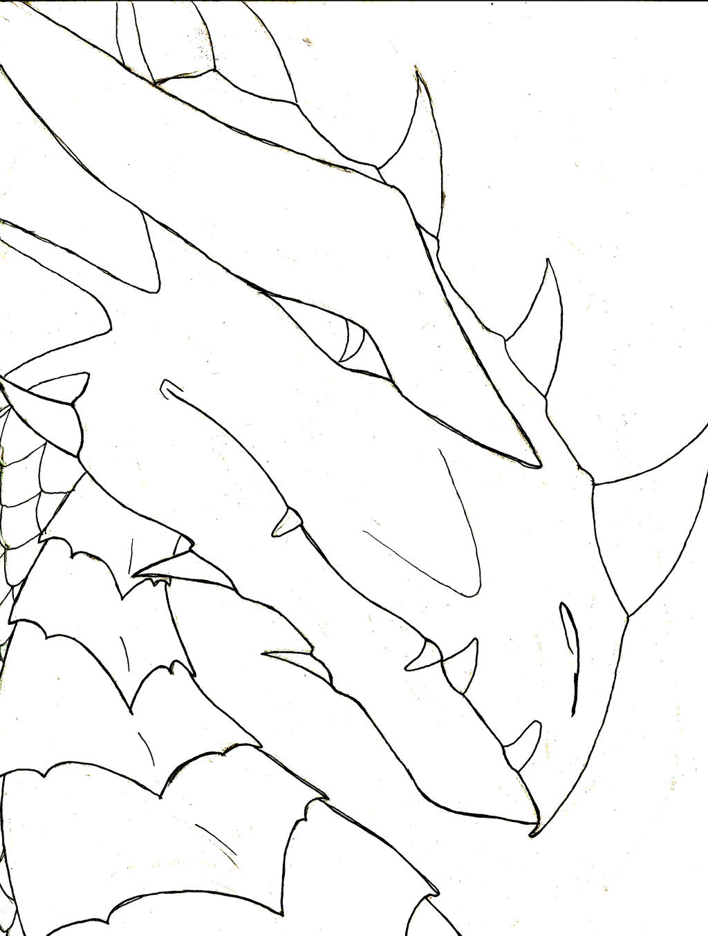 Line Drawing Dragon : Dragon line art by amethystdragon on deviantart