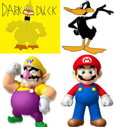 Dark Duck, and Wario, to Daffy Duck, and Mario