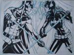 Batgirl Ink WIP