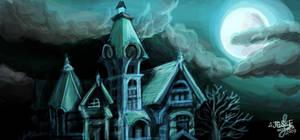 Haunted House Graffiti by drewsefske