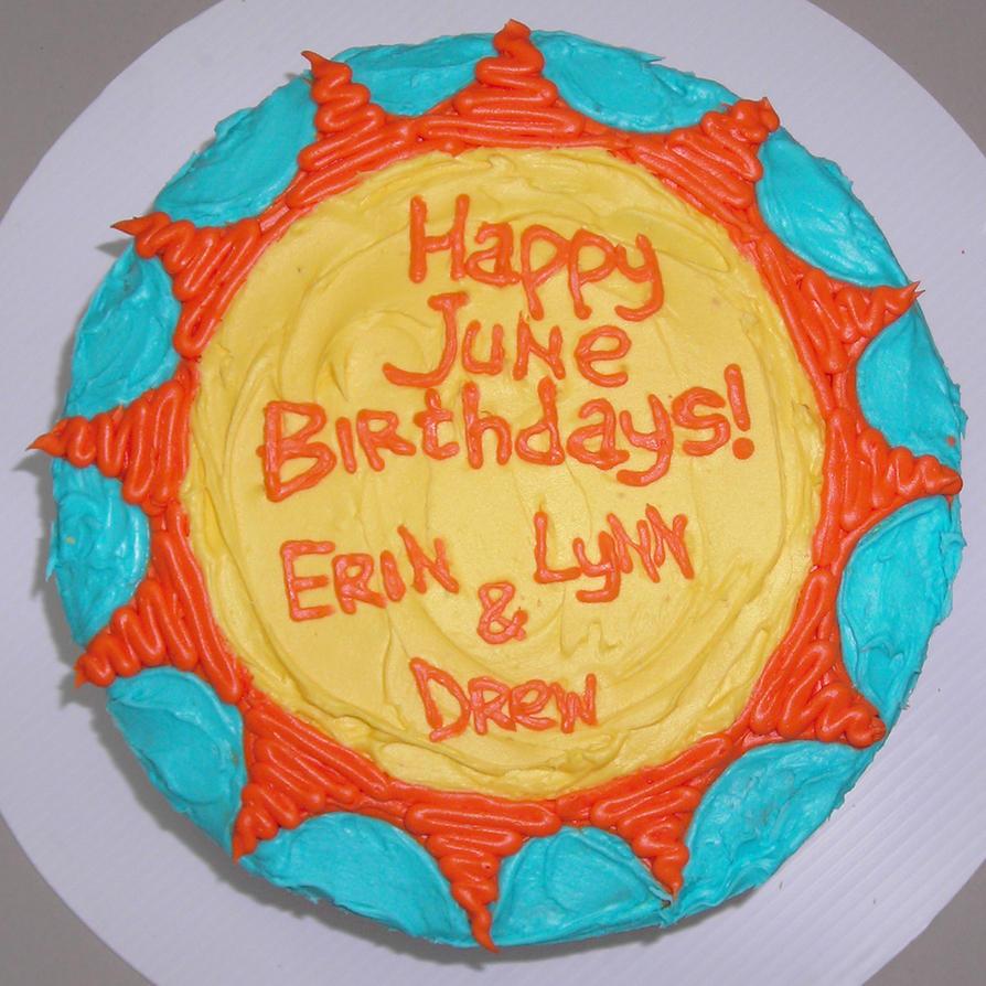 '12 June Birthday Cake For Work By Drewsefske On DeviantArt