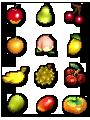 Animal Crossing Pixel Fruit by drewsefske