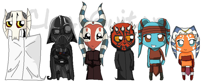 My favourite SW characters by ClearGuitar on DeviantArt