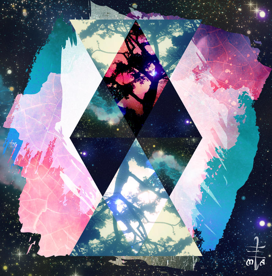 Galaxy Hipster Triangle Thing by thechangelingmedusa on ... Hipster Triangle Galaxy Wallpaper