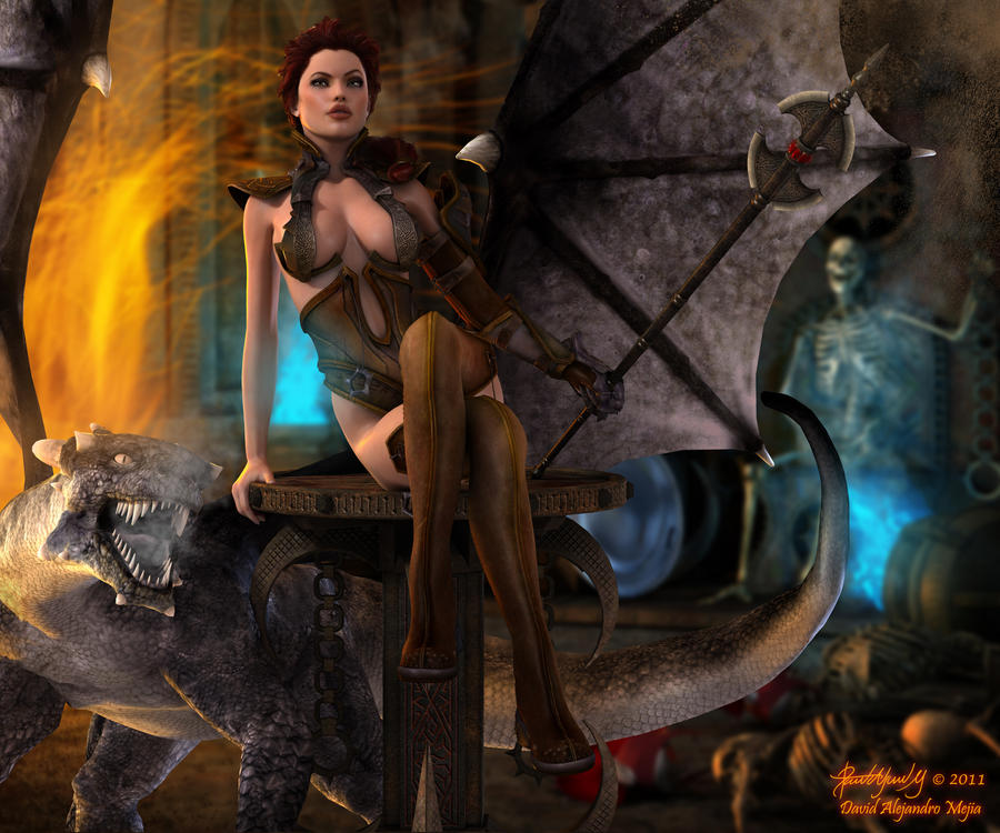 The Mistress of the Dragon... Aicka by Pitoxlon