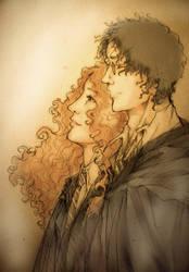 Harry Hermione sketch by alizarin