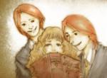 fred - hermione - george