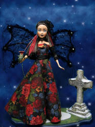 Red Rose for a Lost Soul OOAK by Pixiecritter