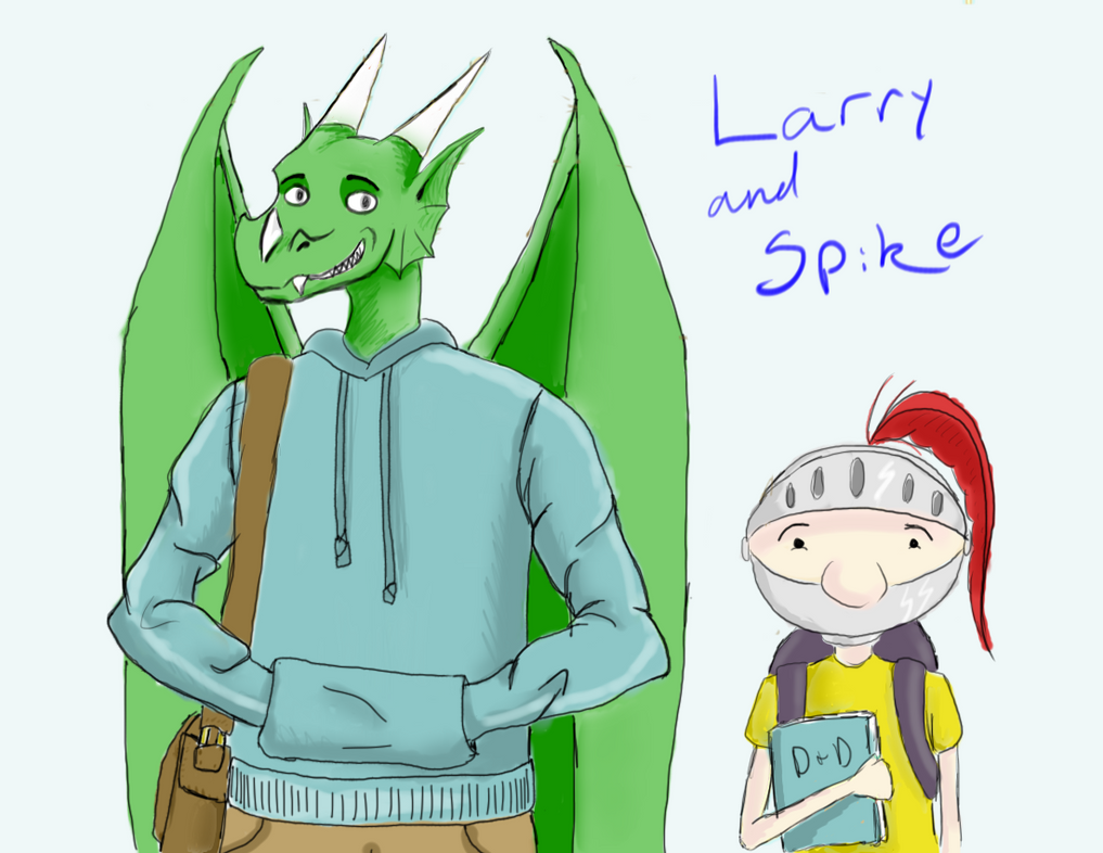 Larry and Spike by Cortanna117