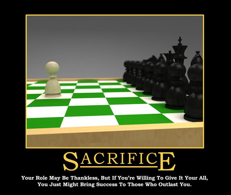 Demotivator: Sacrifice by so-close on DeviantArt