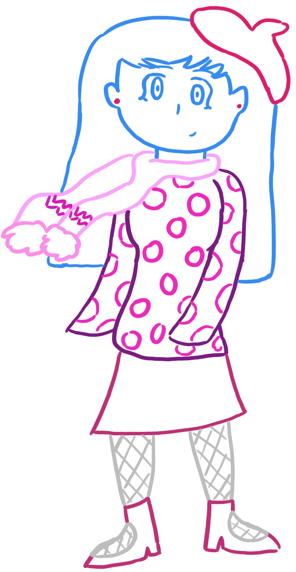 Line Drawing Little Girl : Line claycia by littlegirlfandom on deviantart