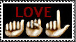 Love ASL Stamps by VICOZIA
