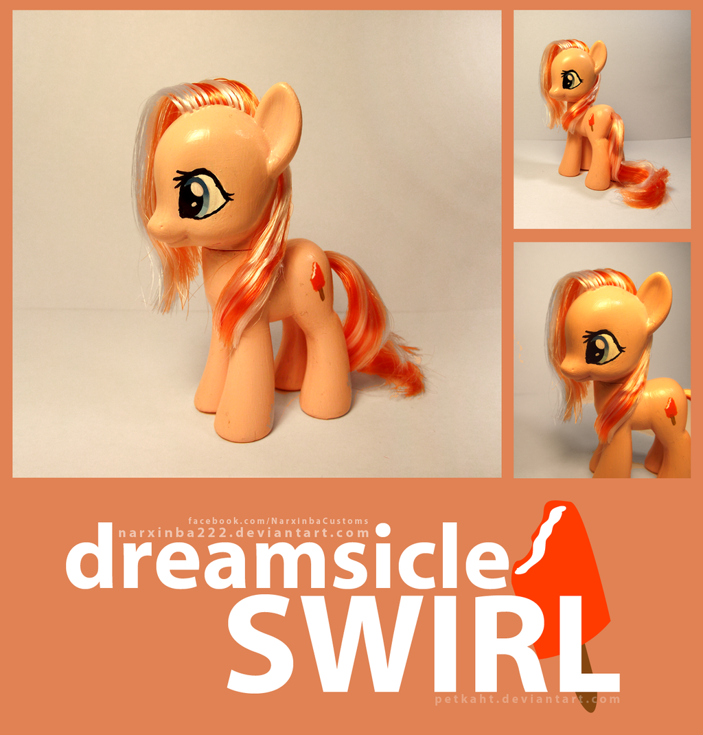 Commission Dreamsicle Swirl by Narxinba222