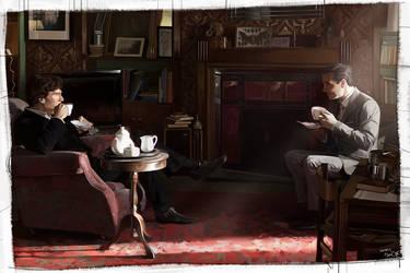 Sherlock, Moriarty by hoo0