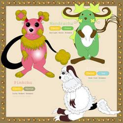 Raichilutes3:pink luck,white mystery,green scream by TrueMefista
