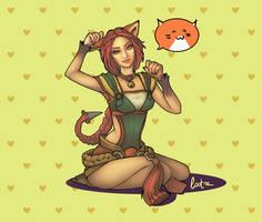 Ahri - Foxfire by unrealmelody