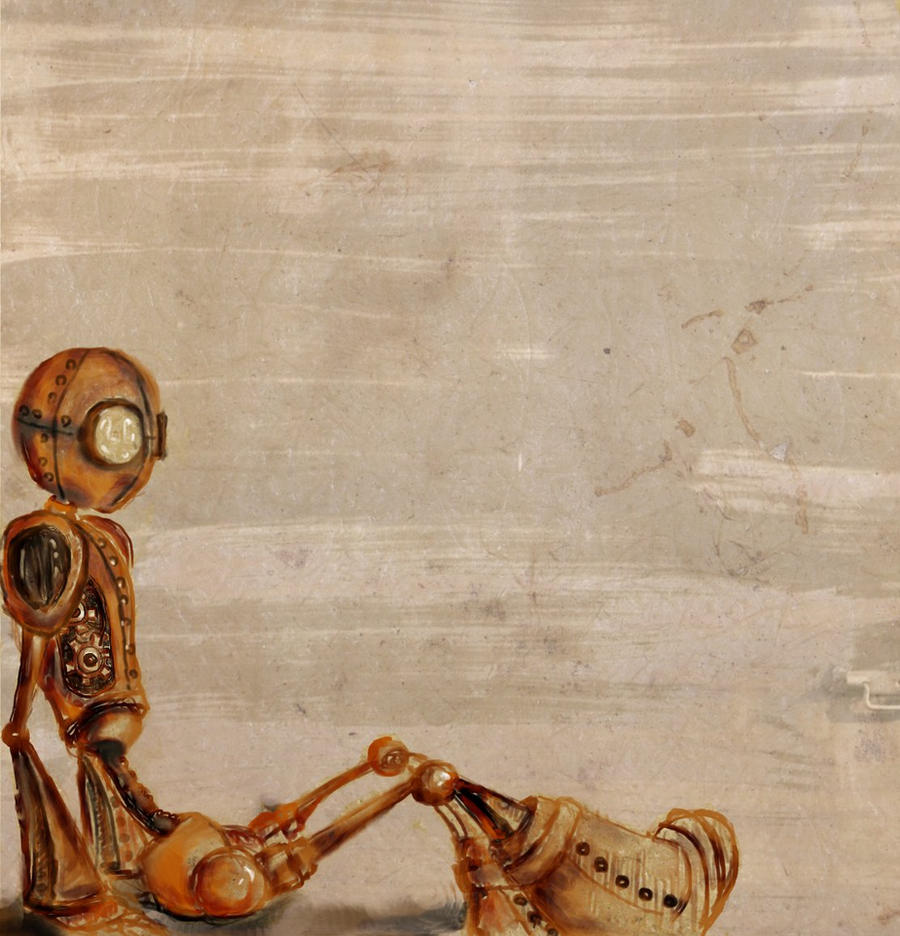 steampunk robot sketch by Salix-Tree