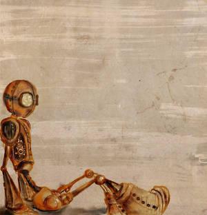 steampunk robot sketch