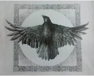 Crow of Warning by Salix-Tree