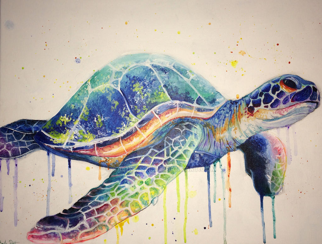 Commissioned sea turtle erin by salix tree
