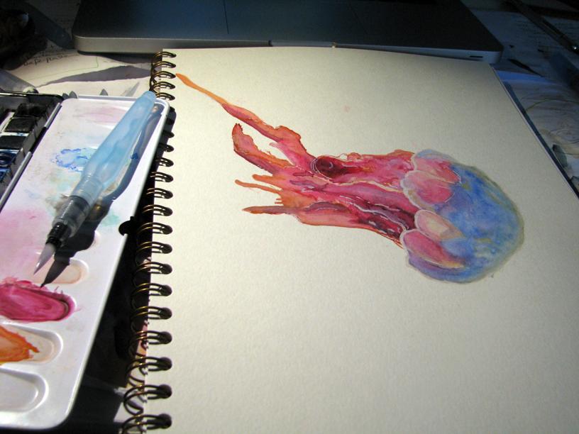 WIP Jellyfish by AnniOturnaround