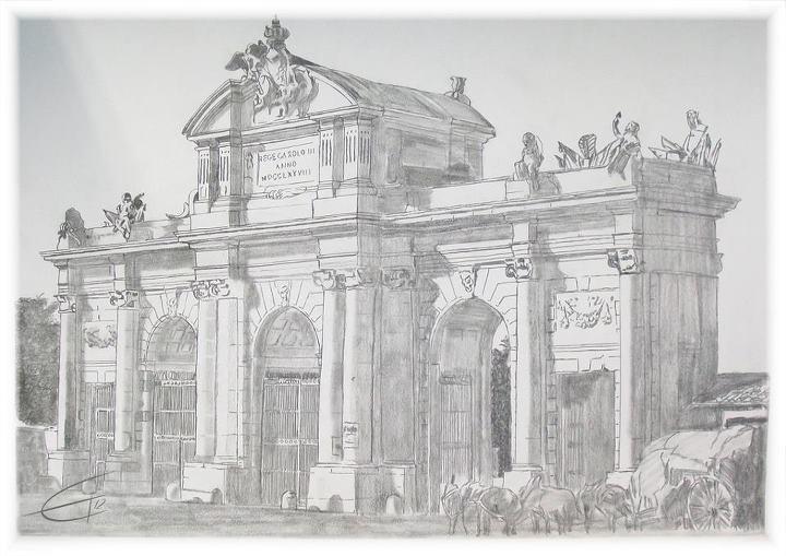 Puerta de alcala 1857 by albertoabad on deviantart - Dibujos de puertas ...