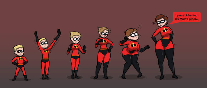 Dash Parr to Helen Parr (Mrs Incredible) TG TF