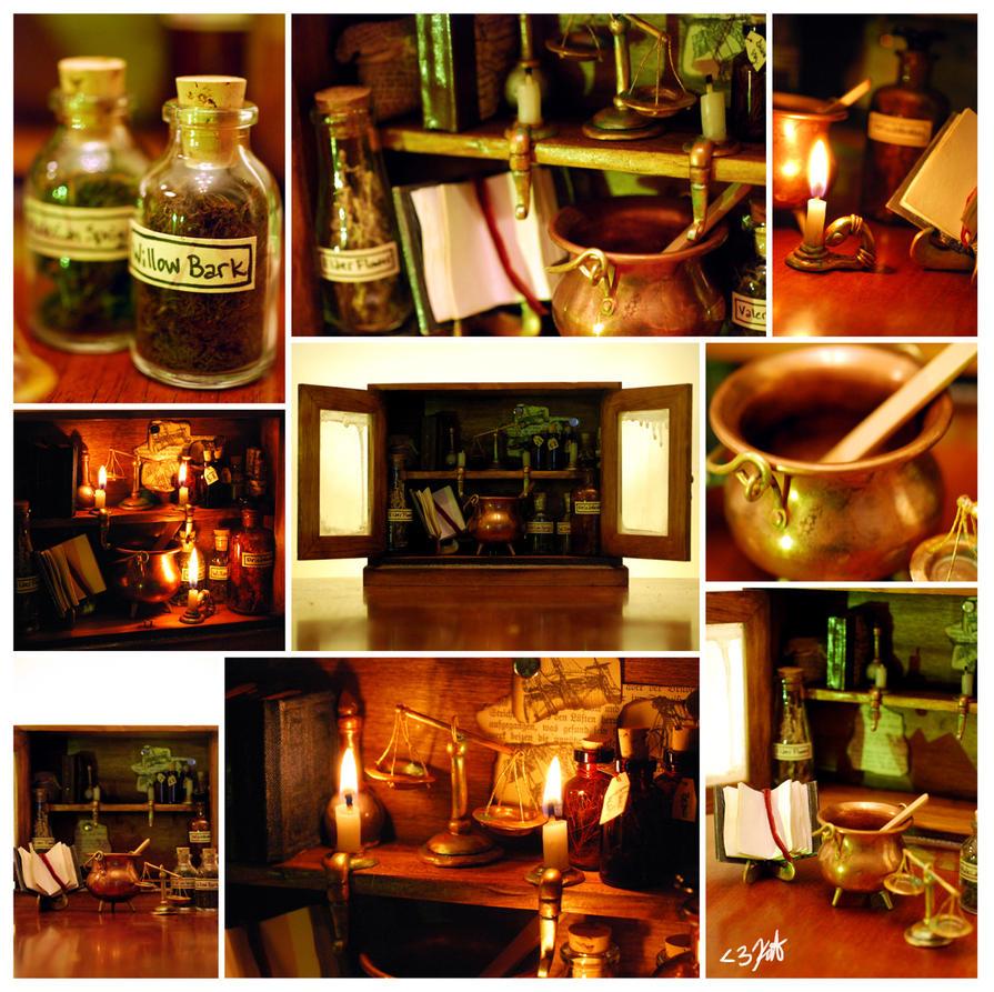 Pottermore Potions Cabinet by Kyasuri
