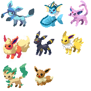 Linless Eeveelutions by JessiAlyssa