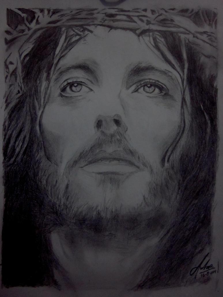 Download Sketsa Gambar Yesus | Sketsabaru