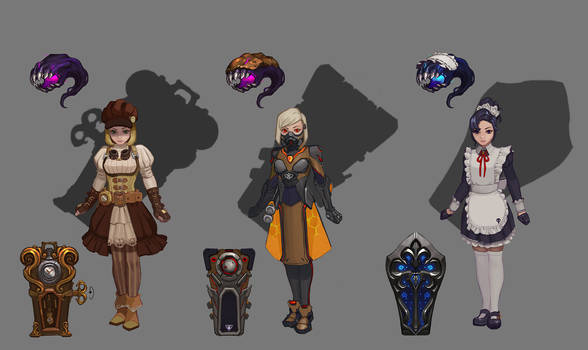Three concept skins for Orphea