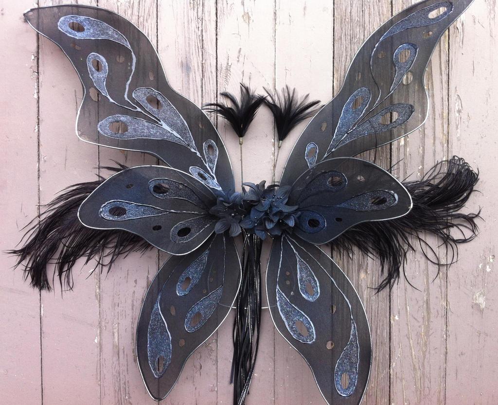 Dark Fairy Wings by bluereverieDark Blue Fairy Wings