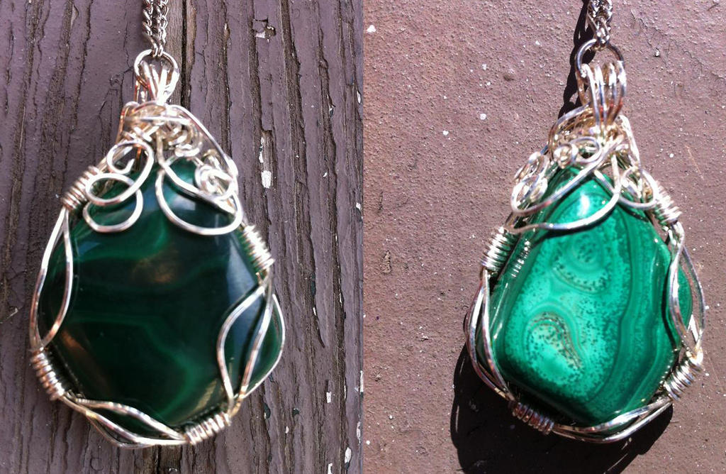 Reversible wire wrapped malachite necklace by bluereverie on deviantart reversible wire wrapped malachite necklace by bluereverie aloadofball Choice Image