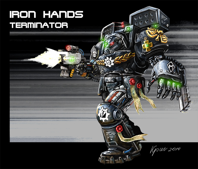 Iron Hands Terminator by krigraydo