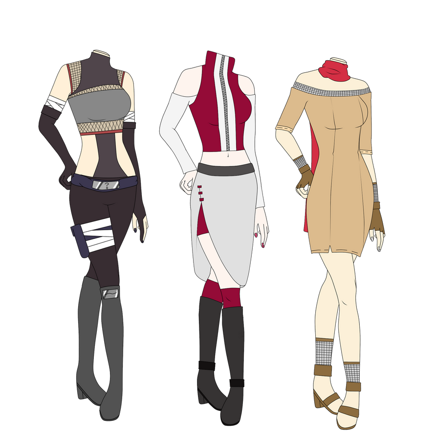 Naruto Adoptable Outfits #9- CLOSED by SicklySatisfied on DeviantArt