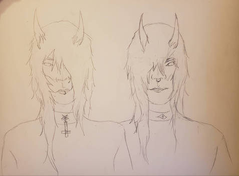 Quick sketch of new twins with no name xD