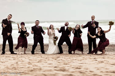 A very metal bridal party