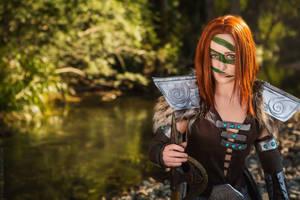 Skyrim - Aela The Huntress I by fiathriel