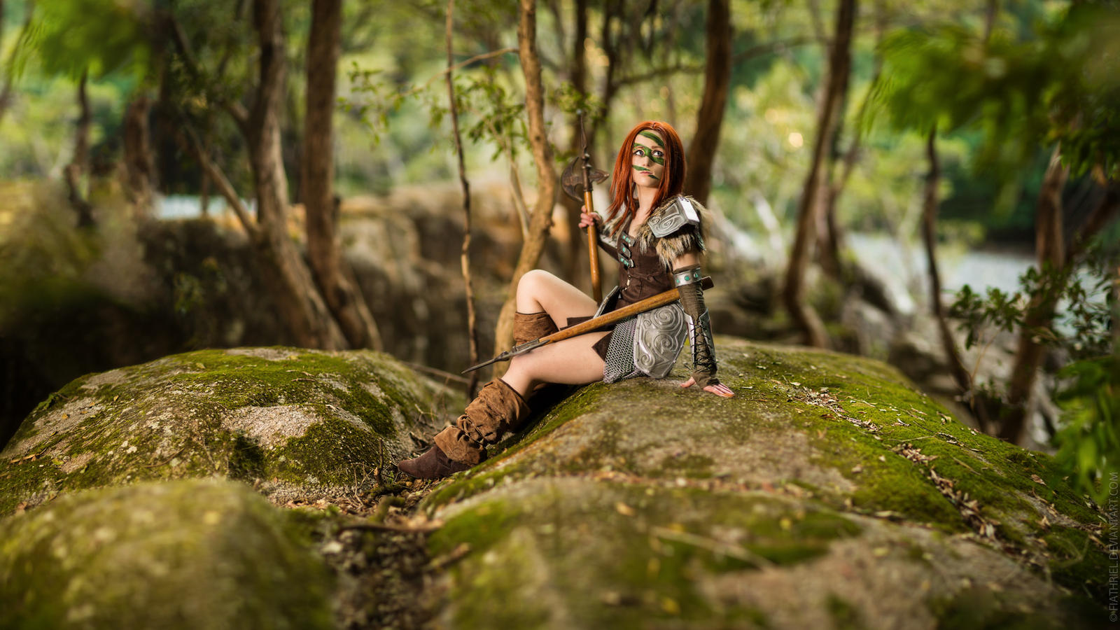 Skyrim - Aela The Huntress II by fiathriel