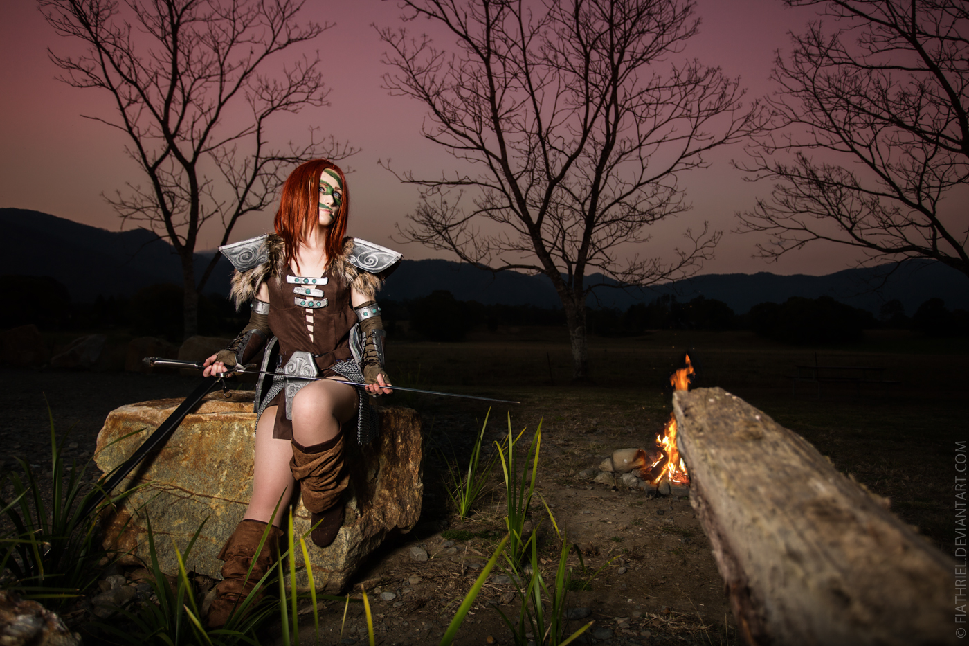 Skyrim - Aela The Huntress III by fiathriel