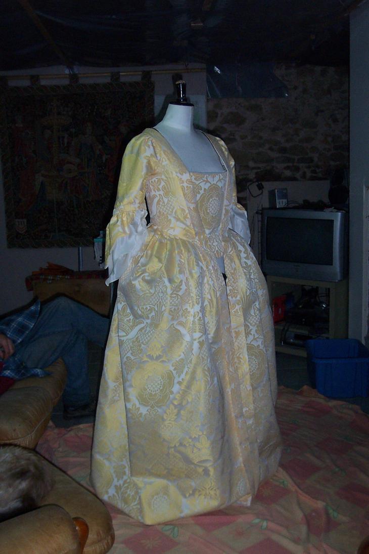 mantua 1740-50 WIP front by Janes-Wardrobe
