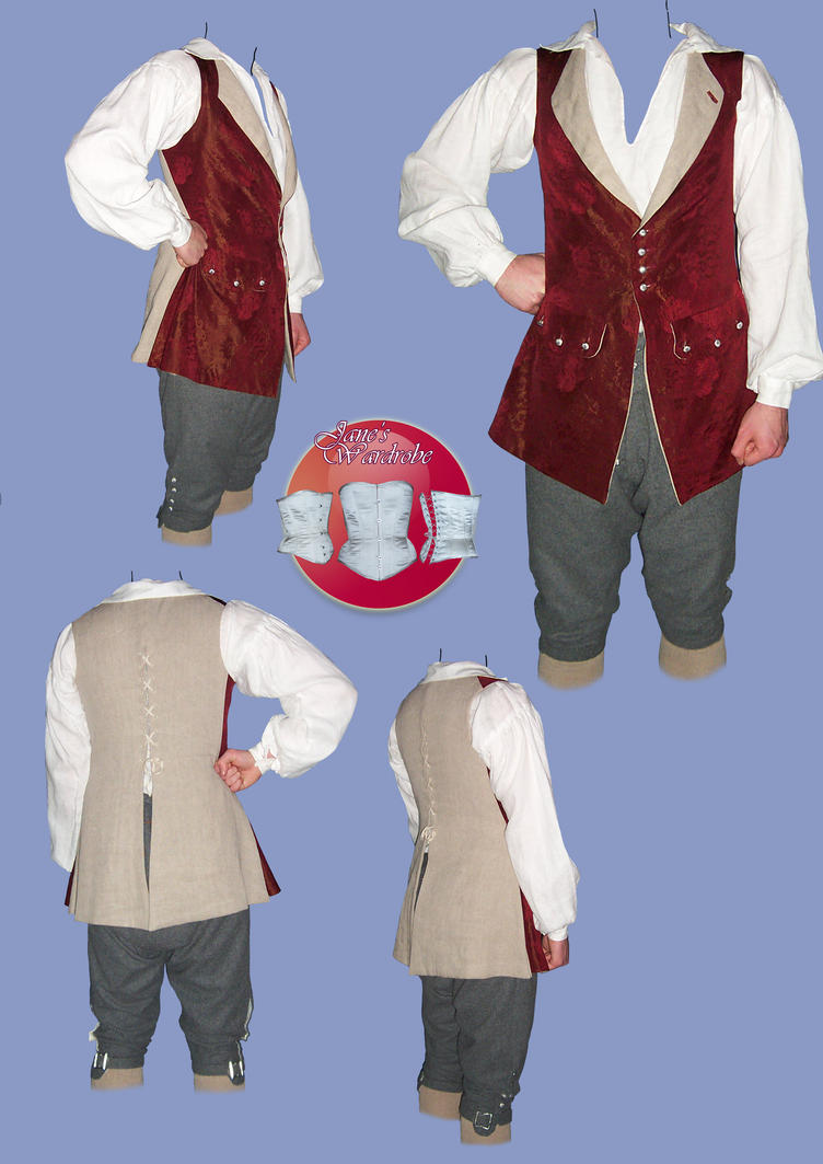 18th C breeches and waistcoat by Janes-Wardrobe