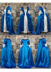 blue robe a la francaise by Janes-Wardrobe
