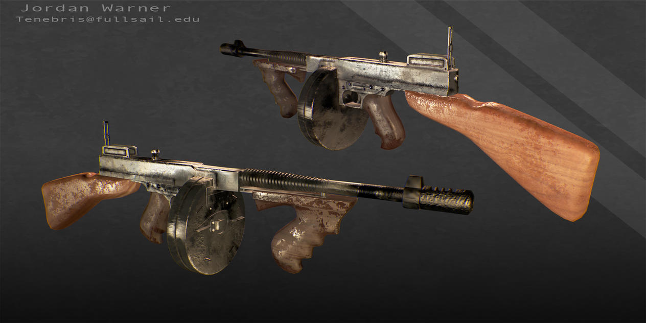 Thompson 1927 'Tommy Gun' by skullwarrior13