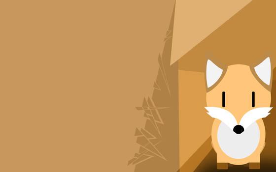 Flat design fox