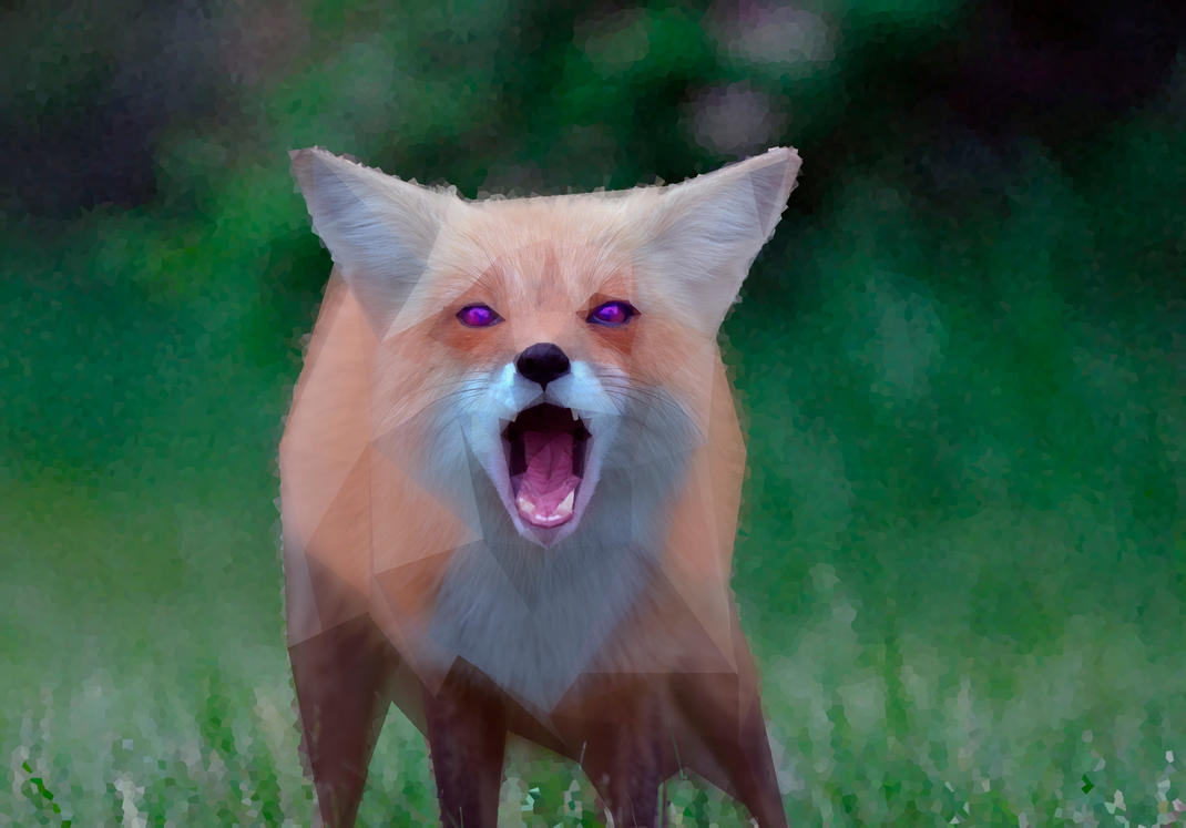 -- Low poly angry fox -- by 0l-Fox-l0