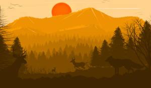 -- Red sun -- by 0l-Fox-l0